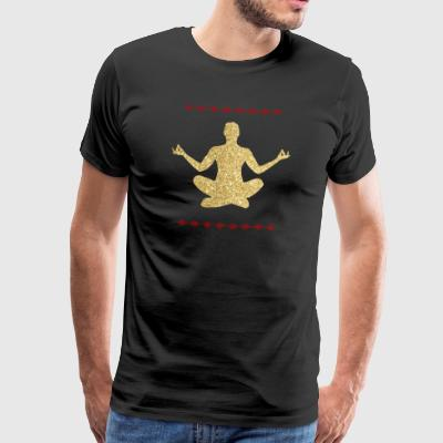 Meditation gold design - Men's Premium T-Shirt