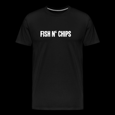 Fish and chips English food shirt - Men's Premium T-Shirt