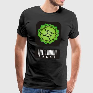 Salad conscious healthy feed barcode gift - Men's Premium T-Shirt
