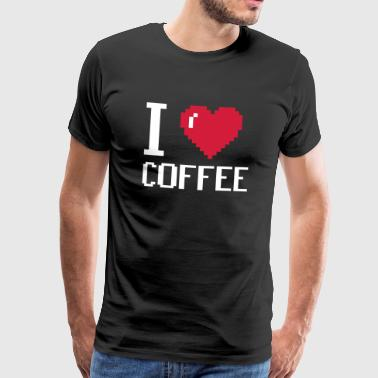 I Love Coffee - coffee - Men's Premium T-Shirt