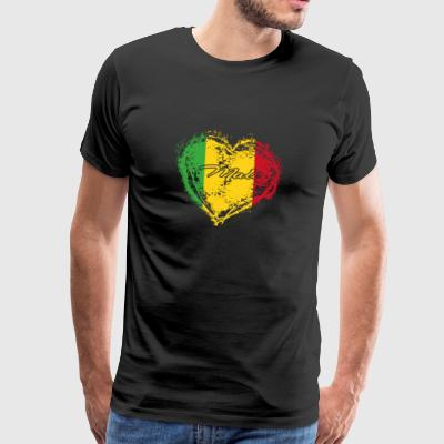 HOME ROOTS COUNTRY GIFT LOVE Mali - Männer Premium T-Shirt