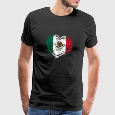 HOME COUNTRY ROOTS GIFT LOVE Mexico - Premium-T-shirt herr