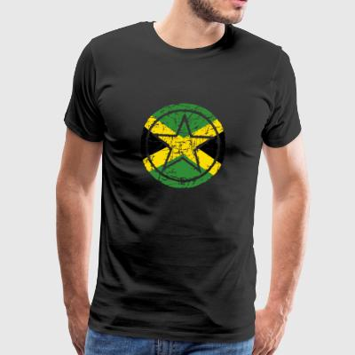 roots star heart love home Jamaica png - Men's Premium T-Shirt