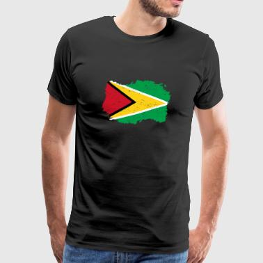 Roots roots flag homeland country Guyana png - Men's Premium T-Shirt