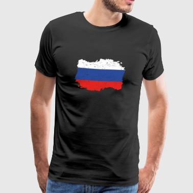 Roots roots flag homeland country Russia png - Men's Premium T-Shirt