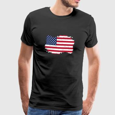Roots Roots hjemland flagg USA Amerika png - Premium T-skjorte for menn
