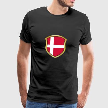 VM Champion 2018 wm hold Danmark png - Herre premium T-shirt