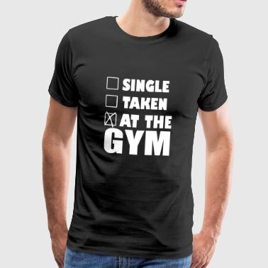 At the gym - Men's Premium T-Shirt