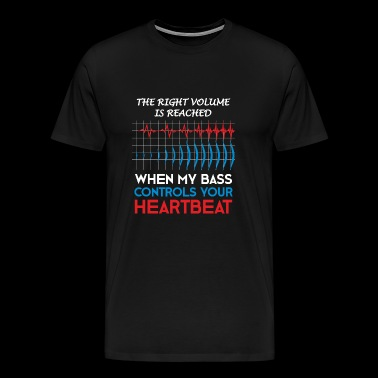 Right volume electric bass player gift - Men's Premium T-Shirt