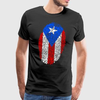 PUERTO RICO FINGERPRINT. LATINO LATINA SPANISH - Men's Premium T-Shirt
