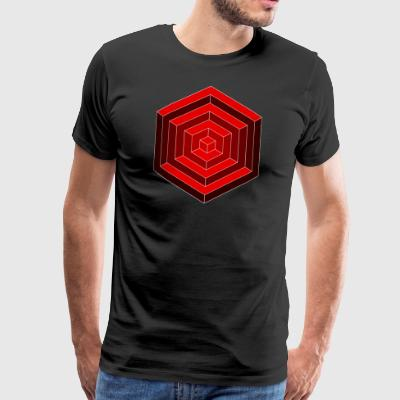 Hexagon Cube - Männer Premium T-Shirt