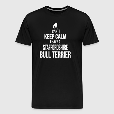 STAFFORDSHIRE BULL TERRIER can't keep kalm - Men's Premium T-Shirt