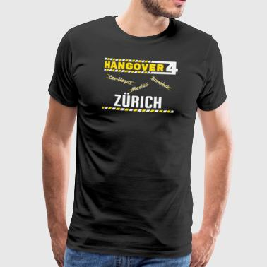 Hangover Party Zurich Schweiz Travel - Premium-T-shirt herr