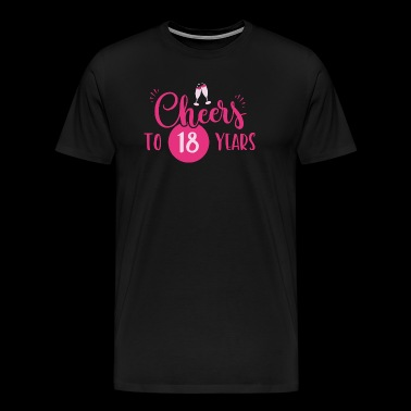 18 years / years: Cheers to 18 years gift - Men's Premium T-Shirt