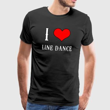 Line Dance Shirt - Linedance Country Musik Love - Männer Premium T-Shirt