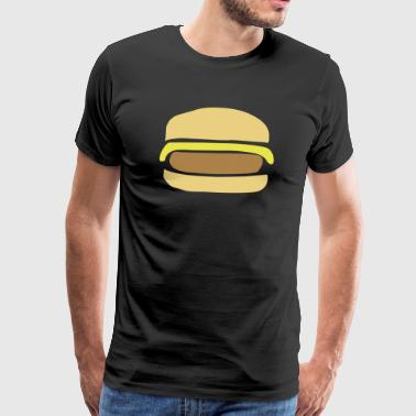 Cheeseburger, Hamburger - Herre premium T-shirt