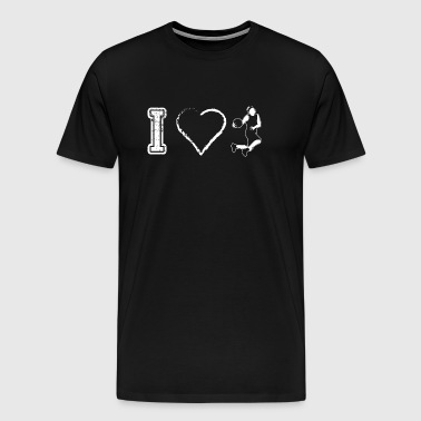 I love Basketball Basketball - Men's Premium T-Shirt