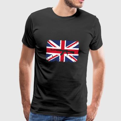 homeland fight ak 47 home roots England png - Men's Premium T-Shirt