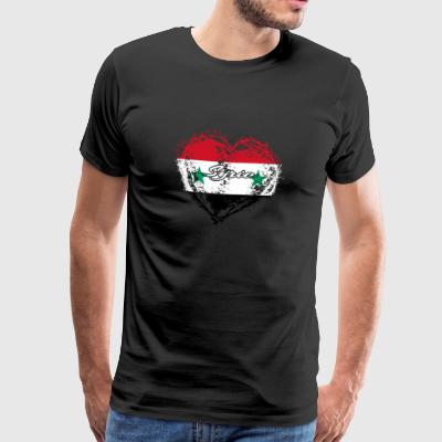 HOME COUNTRY ROOTS GIFT LOVE Syrien - Premium-T-shirt herr