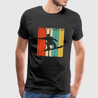 Vintage Retro 70s Snowboard Gifts. Extreme Sports. - Men's Premium T-Shirt