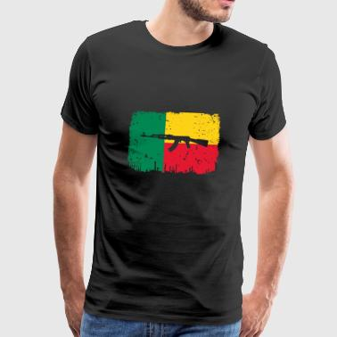 homeland fight ak 47 home roots Benin png - Men's Premium T-Shirt