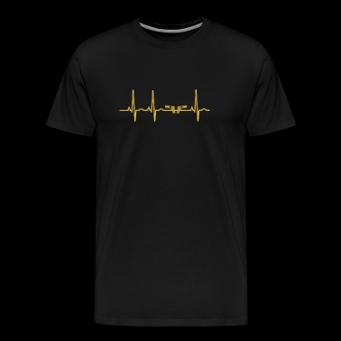 evolution ekg heartbeat pistol pistol weapon pol - Men's Premium T-Shirt