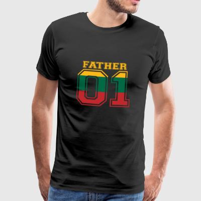 Father father daddy 01 queen Lithuania - Men's Premium T-Shirt