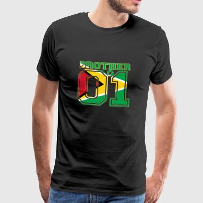 king bruder brother 01 partner Guyana - Männer Premium T-Shirt