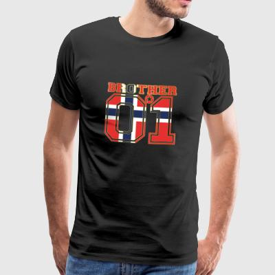 king bruder brother 01 partner Norwegen - Männer Premium T-Shirt