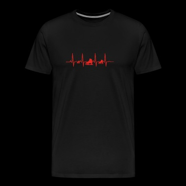 Heartbeat heart ekg evolution human skid - Men's Premium T-Shirt