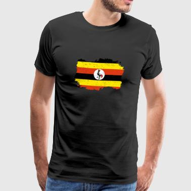 Roots Roots Flag Homeland Country Uganda png - Men's Premium T-Shirt