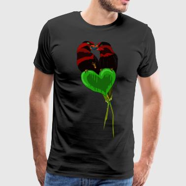 Love Birds av BlackenedMoonArts - Premium T-skjorte for menn