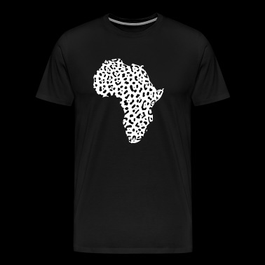 AFRICA - continent of leopard pattern - Men's Premium T-Shirt
