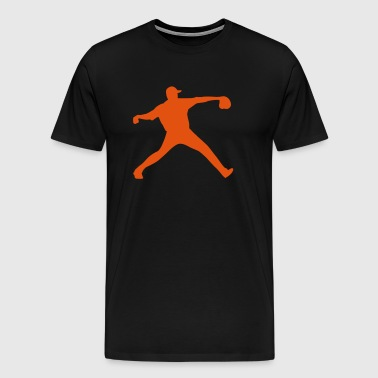 baseball pitcher - Mannen Premium T-shirt