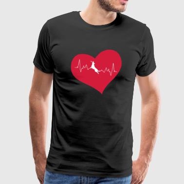 Dog sports heart - Men's Premium T-Shirt