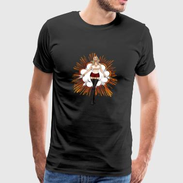 Explosieve Hot Girl Blonde - Mannen Premium T-shirt