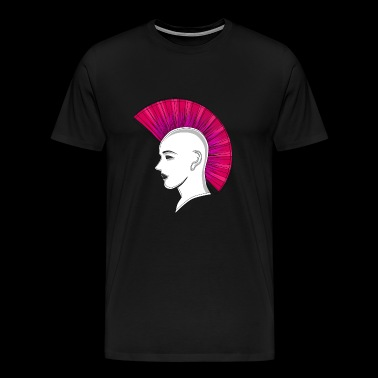 Punk punk Iroquois Iro drawing gift - Men's Premium T-Shirt