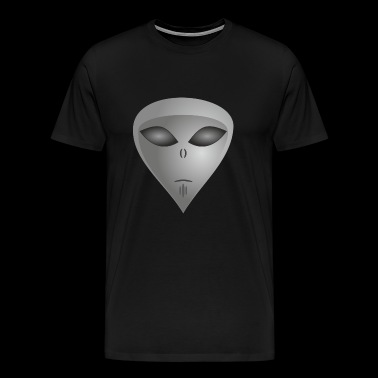 Alien alien face alien - Men's Premium T-Shirt
