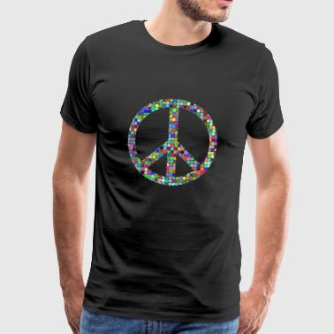 Peace Love hippie pacifist - Mannen Premium T-shirt