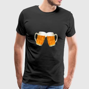 Beer mugs with beer - Men's Premium T-Shirt