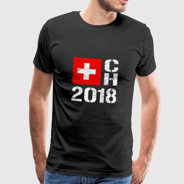 Switzerland Football - CH 2018 SUI - Men's Premium T-Shirt