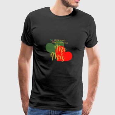 Our First Christmas As ... - Men's Premium T-Shirt