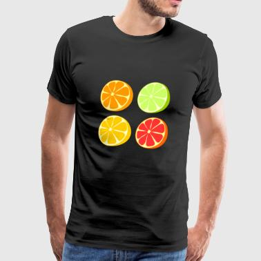 veggie fruits de pamplemousse légumes fruits2 - T-shirt Premium Homme