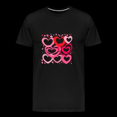 multi hearts - Men's Premium T-Shirt