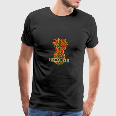 Pineapple in 3D look - Men's Premium T-Shirt