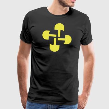 Round Swastika Key Design! - Men's Premium T-Shirt