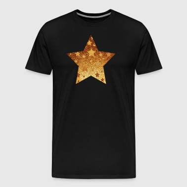 Star with asterisks - gold with gold - Men's Premium T-Shirt