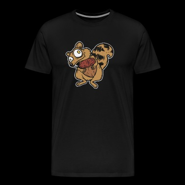 Super funny squirrel - funny animal - Men's Premium T-Shirt