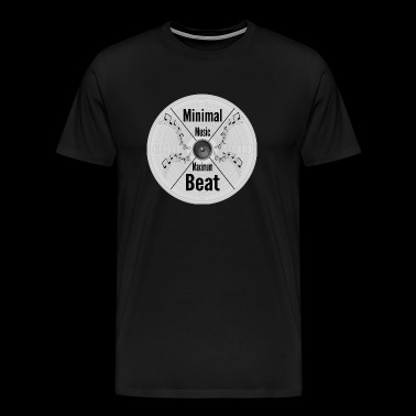 Minimal Music - Maximum Beat, Clubbing Music Wear - Men's Premium T-Shirt