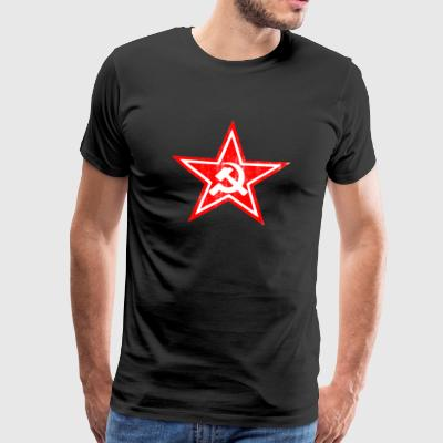 Hammer sickle communist star - Men's Premium T-Shirt